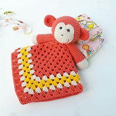 Lovely Bunny Lovey Pattern  Security Blanket  Crochet Lovey