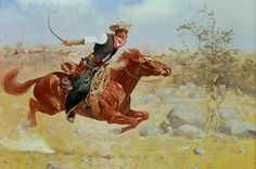 Frederic Remington Solid-Faced Canvas Print Wall Art Print entitled Galloping Horseman, None Painting Prints, Watercolor Paintings, Art Prints, Watercolour, Samurai, Frederic Remington, Thing 1, Le Far West, Detail Art