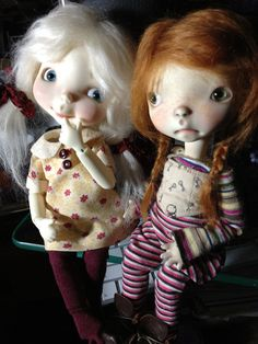 Marvel and Meek | Flickr - Photo Sharing! Sprocket dolls by Connie Lowe of Marbled Halls.