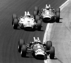 Jim Clark, A.J. Foyt and Parnelli Jones at Indy in 1965.