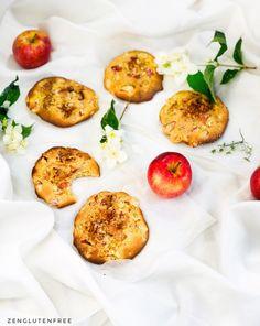 Cookies pomme cannelle sans gluten et sans lactose | Cuisinez zen et Sans gluten Patisserie Sans Gluten, Sans Lactose, Baked Potato, Cookies Et Biscuits, Eggs, Zen, Breakfast, Ethnic Recipes, Sweet