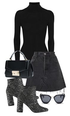 """All over"" by camilae97 ❤ liked on Polyvore featuring Alaïa, RE/DONE and Prada"