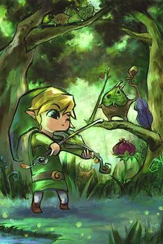 The Legend of Zelda: The Wind Waker, Toon Link and Makar / 「リンクとマコレ」/「さわこ」のイラスト [pixiv]