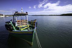 Grammaré, RN - Brazil - A green boat. - Guamaré is a city and a municipality in the state of Rio Grande do Norte in the Northeast region of Brazil.