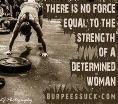 Determined women of Crossfit