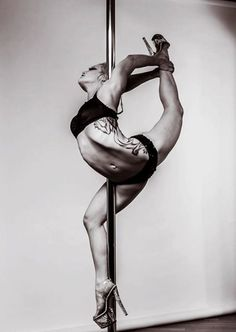 pole dancing, incredible strength and flexibility