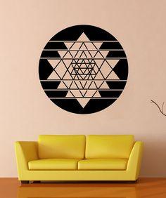Vinyl Wall Art Decal Sticker Sri Yantra Circle OSMB1254m on Etsy, $49.95