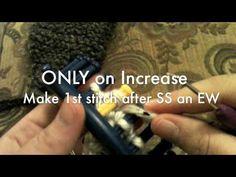 Loom Knit - Doing an increase, how to create a clean edge