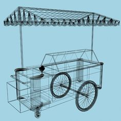 english ice-cream cart 3d model - ice-cream cart.zip... by lumograph