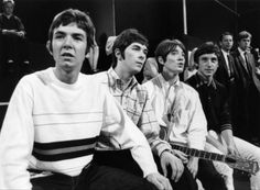 The Small Faces (from left: Ronnie Lane, Ian Mclagan, Steve Marriott, Kenney Jones) backstage at a television show, c. 1966