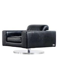 Vladimir Kagan; Leather And Chromed Steel U0027New Yorku0027 Swivel Chair For  Directional,