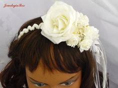 Bridal Headband with Roses and Pearls by JewelryinBox on Etsy, $65.00