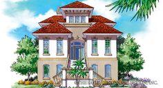 """Saint Basque"" Home Plan   Sater Design Collection   Luxury House Plans"