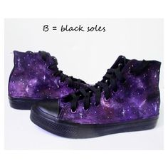 Custom handpainted purple galaxy sneakers,personalized shoes, galaxy... ($39) ❤ liked on Polyvore featuring shoes, sneakers, cosmic shoes, planet shoes, galaxy print shoes, nebula shoes and purple shoes