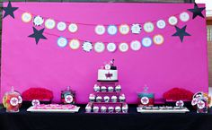 """Rock Star party. I especially love the """"backstage pass"""" invitations and the details on the cake."""