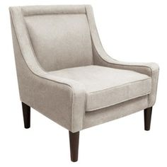 Check out this item at One Kings Lane! Scarlett Swoop-Arm Chair, Talc