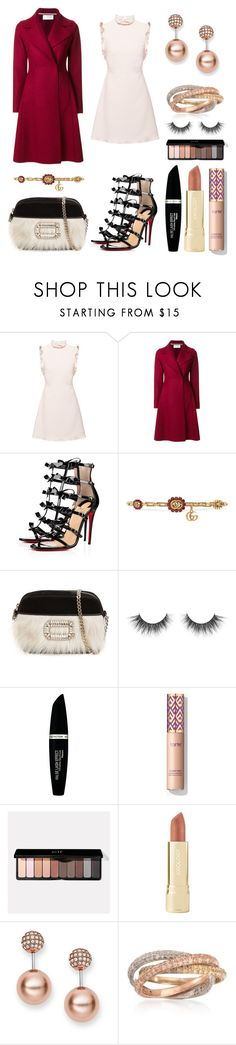 """Anywhere"" by massielcristina on Polyvore featuring moda, Miu Miu, Harris Wharf London, Christian Louboutin, Gucci, Roger Vivier, Max Factor, Axiology, FOSSIL y Ross-Simons"