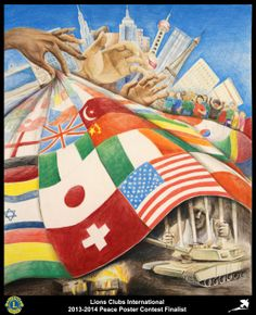 Finalist from New Jersey, USA (Edison Metro Lions Club) - 2013-2014 Peace Poster Contest