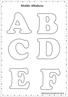 Risultati immagini per as letras do alfabeto para imprimir Alphabet Letter Templates, Printable Letters, Alphabet Letters, Felt Crafts, Diy And Crafts, Felt Letters, Cardboard Letters, Applique Patterns, Letters And Numbers