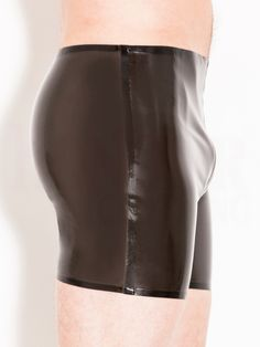 Rubber Black See Through Boxer Shorts