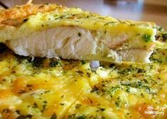 Fish baked in egg with mayonnaise - Cooking Come Cod Recipes, Salmon Recipes, Fish Recipes, Cooking Recipes, Baked Fish, Baked Salmon, Fish Dishes, Main Dishes, How To Cook Fish