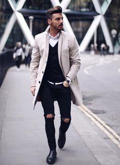 Fast zu schick aber da es in schwarz gehalten ist, geht es. #Herrenmode #MännerMode #Outfit #Skinny #mensfashion #streetstyle #streetfashion #ootd #outfitoftheday #influencer #fashionblogger #menstyle