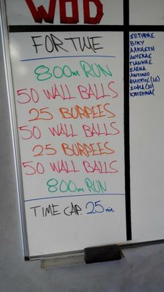 Start of the week with a difficult WOD!