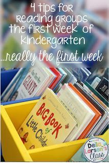 Della Larsen's Class: 4 tips to actually having reading groups the first week of kindergarten