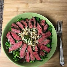 #FanFriday time! Look at this incredible salad @greshamworrell made. We bet it taste even better than it looks (we know....that sounds impossible but our grass-fed beef is THAT good).
