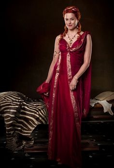 Lucretia  played by the stunning Lucy Lawless costumes inspired by the ancient romans