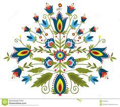 polish folk | Polish folk - traditional design with floral.