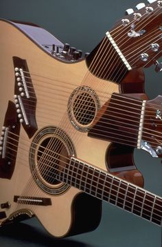 The Pikasso guitar that luthier Linda Manzer designed for musician Pat Metheny.