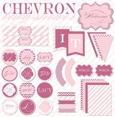 chevron party printables