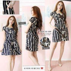 Yiruma FG dress ass  Batik katun (stretch) All size Fit to L Available color : Black Navy  CP  LINE @bebatikanjogja (pakai '@')  WA 081904019099 (slow response)  Toko Baju Batik Modern | http://ift.tt/2flJQTw