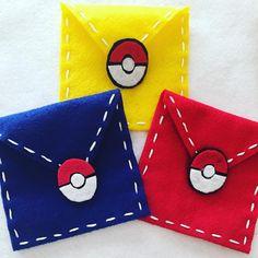 Pokemon Go felt envelopes by DeCoitesDeCrafts on Etsy