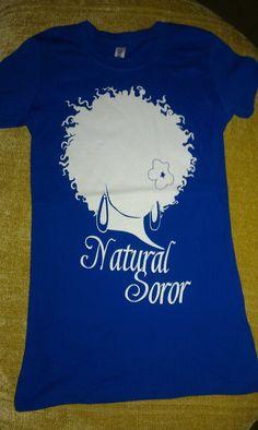 ZETA PHI BETA Natural Soror Shirt Size 2xl by AuNaturelDiva, $20.00