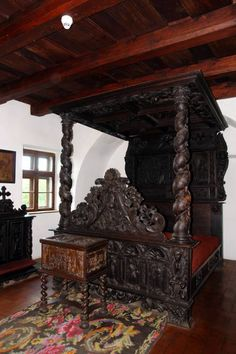 Goth: The ~ Bedchamber inside Dracula's Castle, Transylvania and the Real Story About Dracula. Beautiful Castles, Beautiful Places, Transylvania Castle, Transylvania Romania, Chateau Medieval, Medieval Castle, Dracula Castle, Peles Castle, Vlad The Impaler
