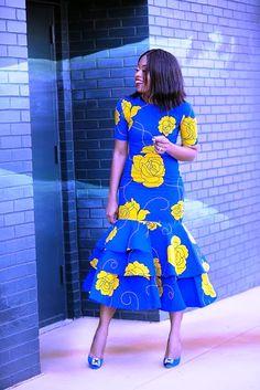 tiered dress, ankara dress, best dressed guest, www. Ankara Dress Styles, African Print Dresses, African Fashion Dresses, African Dress, African Outfits, Ankara Fashion, African Prints, Africa Fashion, African Inspired Fashion