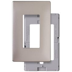 Pass & Seymour/Legrand SWP26NIBPCC10 1-Gang Nickel Finish Decorator Rocker Thermoplastic Wall Plate