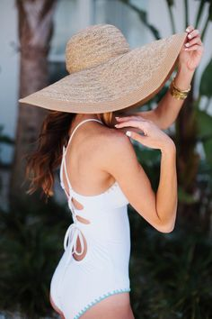 SWIMWEAR UNDER $100 | VOL. 2 Sequins and Things waysify Summer Waves, Fall 2016, Modcloth, Panama Hat, Bathing Suits, Jewlery, The 100, Sequins, One Piece