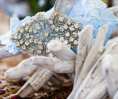 Glamour gets a dose of relaxed beach style when an embellished garter is entangled in driftwood Wedding Dress Accessories, Wedding Dresses, Wedding Planning, Wedding Ideas, Blue Bridal, Something Blue, Wonderful Things, Garter, Driftwood