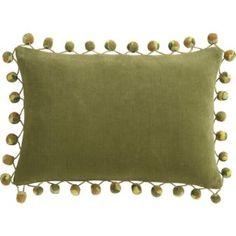 pom pom pillow from CB2. Two of my favorite things: pompoms and velvet!
