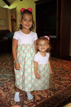 sew a little girl's t-shirt dress   Best tutorial I've seen and with pics, french seams