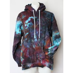 Tie Dyed Hoodie Ice Dyed Unisex Sweatshirt Size Medium Blueberry Wine... ($66) ❤ liked on Polyvore featuring tops, hoodies, print shirts, hooded sweatshirt, tie dye pullover hoodie, hoodie shirt and wine shirt