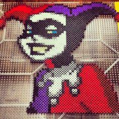 Harley Quinn perler pixel art by herrchild