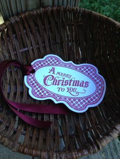 Hand Stamped  A Merry Christmas To You With Satin by erkline5898, $0.99