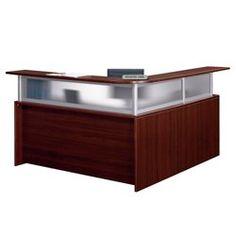 L Shaped Reception Counter and Desk - Left Return - CD00428 and more Office Desks