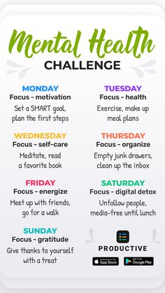 Mental And Emotional Health, Mental Health Matters, Self Care Activities, Physical Activities, Positive Life, Positive Changes, Happiness Challenge, School Motivation, Self Improvement Tips