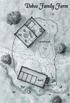 Fantasy dwarven farm map for tarot based rpg