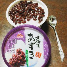 スーパーで何となく買ったアイス 小豆の多さにビックリ❗ 練乳と小豆好きの私にはたまらない一品です #東亜和裁#練乳#小豆#アイスクリーム#toawasai